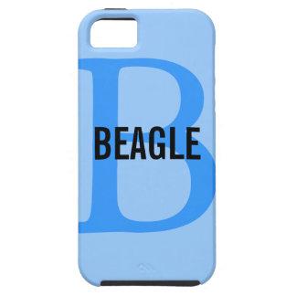 Monogramme de beagle étuis iPhone 5
