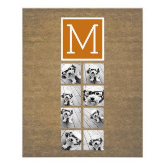 Monogramme de collage de photo - Papier Prospectus 11,4 Cm X 14,2 Cm
