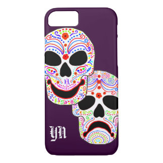 Monogramme de crânes de Halloween DOTD de Coque iPhone 8/7