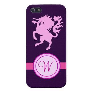 Monogramme de licorne étui iPhone 5