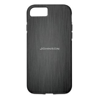 Monogramme de luxe de coutume de motif de bois de coque iPhone 8/7