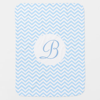 Monogramme de motif de Chevron Couverture Pour Bébé