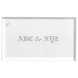 Monogramme de porte-cartes de Tableau Porte-carte De Table