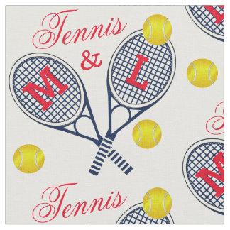 Monogramme de raquettes et de boules de tennis de tissu