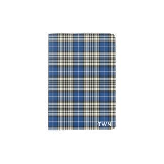 Monogramme de tartan de bleu royal de Napier de Protège-passeport