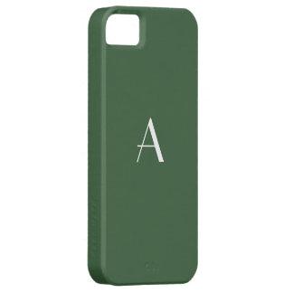 Monogramme de vert forêt coque iPhone 5