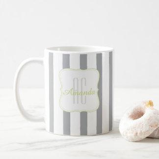 Monogramme dépouillé mug blanc