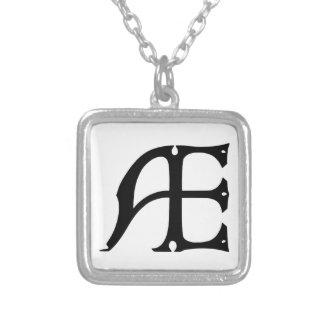 Monogramme des EA - initiales EA dans les lettres Pendentif Personnalisé