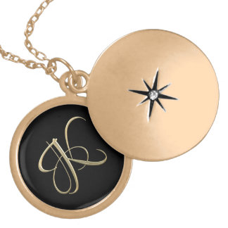 Monogramme d'or de l'initiale K Médaillon