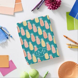 Monogramme du motif | de griffonnage d'ananas protection iPad