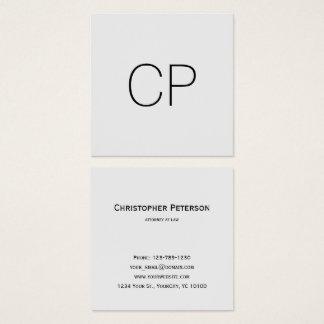 Monogramme élégant minimaliste de bureau de carte de visite carré