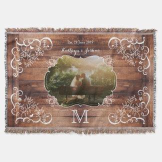 Monogramme en bois de panneau de région boisée de couvertures