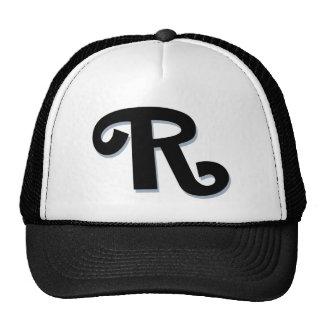 """Monogramme fait sur commande de la lettre """"R"""" Casquettes"""
