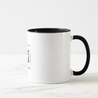 Monogramme fait sur commande imprimé. Noir et Mug