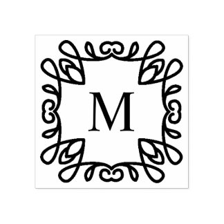 Monogramme fleuri carré
