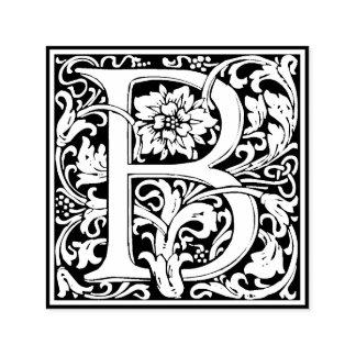 Monogramme floral vintage élégant de la lettre B Tampon Auto-encreur