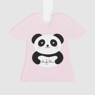 Monogramme Girly mignon d'ours panda de bébé