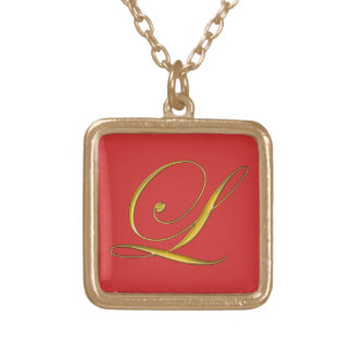 Monogramme L collier initial d'or