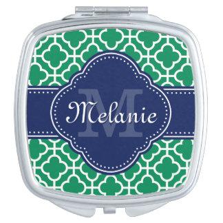 Monogramme marocain blanc de marine de motif de