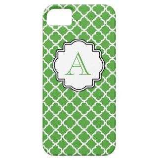 Monogramme marocain d'impression de vert forêt coque iPhone 5 Case-Mate