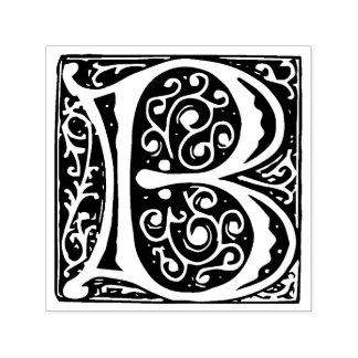 Monogramme médiéval de la lettre B de la Tampon Auto-encreur