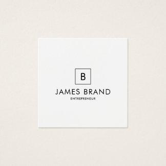 Monogramme minimal élégant carte de visite carré