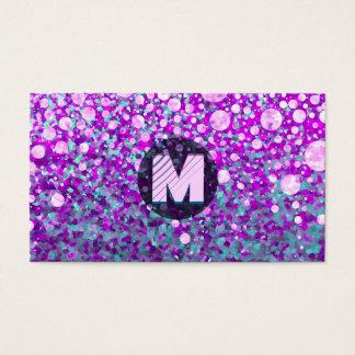 Monogramme moderne cartes de visite