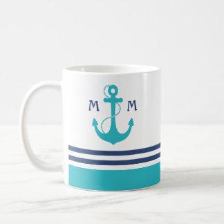 Monogramme nautique mug