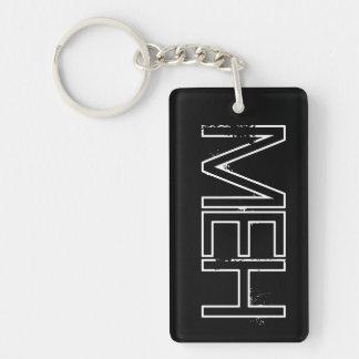 Monogramme noir de MOIS Porte-clé Rectangulaire En Acrylique Double Face