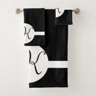 Monogramme noir et blanc de cercle