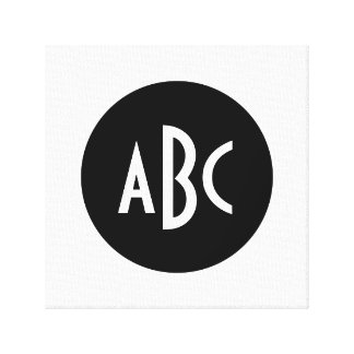 Monogramme noir et blanc de cercle toiles