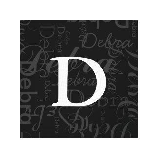 monogramme nommé de typographie toiles