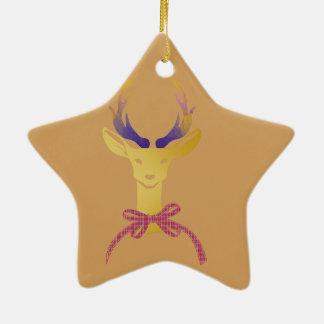 Monogramme par espièglerie de très bon goût ornement étoile en céramique