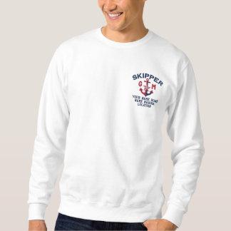 Monogramme personnalisé par ancre nautique de sweatshirt
