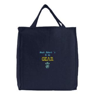 Monogramme personnalisé par sac de bébé brodé