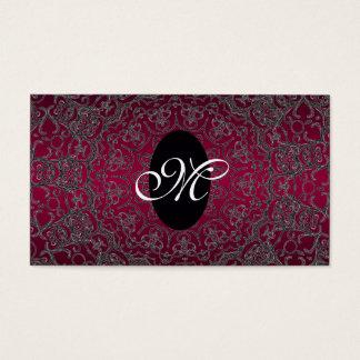 Monogramme pourpre élégant moderne unique Girly Cartes De Visite