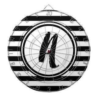 Monogramme rayé noir et blanc - A Jeu De Fléchettes