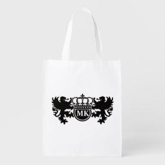 Monogramme royal de lion sac réutilisable