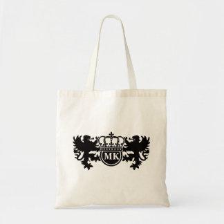 Monogramme royal de lion tote bag