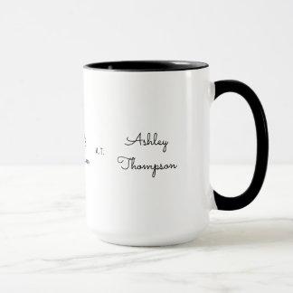 monogramme simple mug
