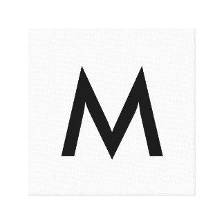 Monogramme simple toiles