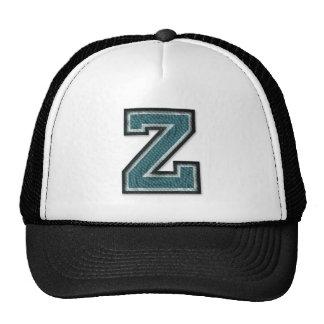 Monogramme trop cuit de la lettre Z Casquette Trucker