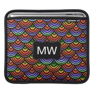 Monogramme tropical de motif d'échelle de feston poches pour iPad