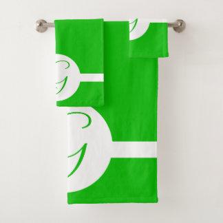 Monogramme vert clair de cercle
