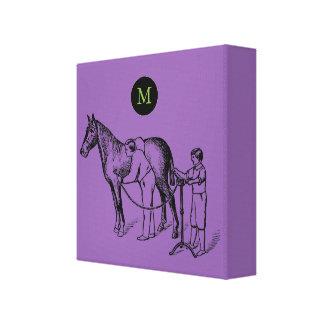 Monogramme VINTAGE C de coupure de cheval Toiles