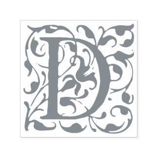 Monogramme vintage élégant de la lettre D de Tampon Auto-encreur