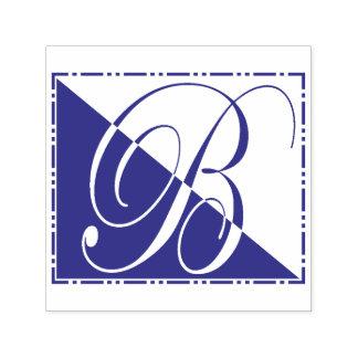 Monogramme vintage élégant de l'initiale B de Tampon Auto-encreur