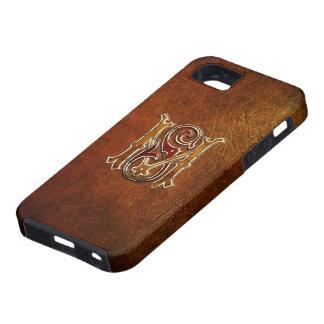 "Monogramme vintage : ""Milliseconde"" [cuir+Or] Coque Case-Mate iPhone 5"