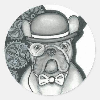 Monsieur Bouledogue Sticker Rond