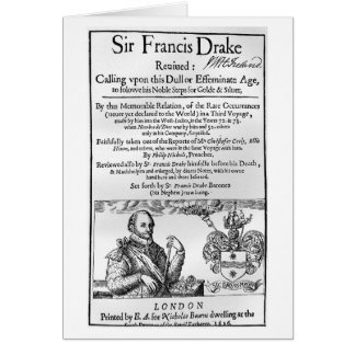 Monsieur Francis Drake a rétabli 1626 Carte De Vœux